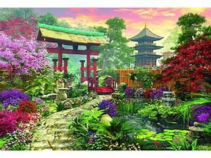 Jardin Dessin Couleur : puzzle jardin japonais educa 16019 3000 pi ces puzzles ~ Melissatoandfro.com Idées de Décoration