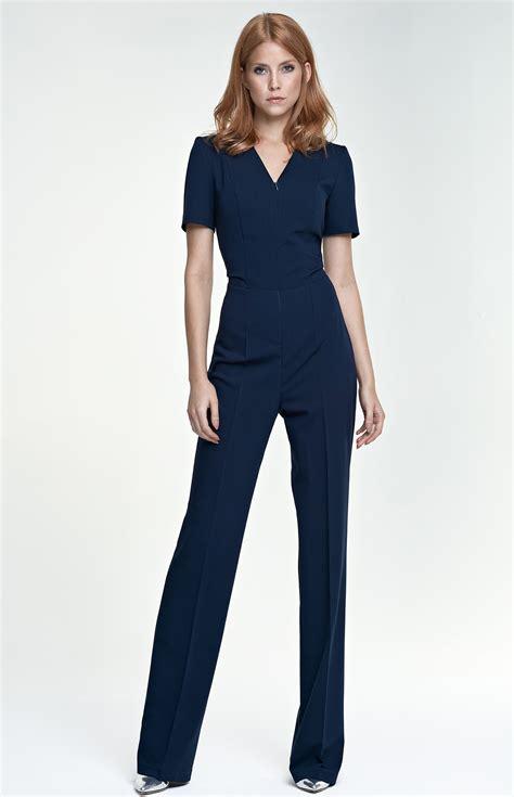 combinaison pantalon femme combinaison pantalon zipp 233 e bleu marine nik04bm