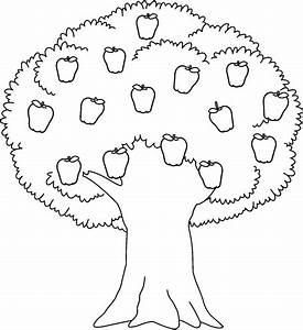 Apple Tree Clipart – in Black And White – 101 Clip Art
