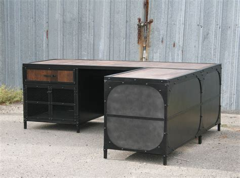industrial desk combine 9 industrial furniture industrial desk