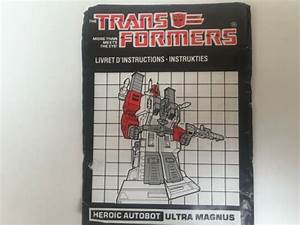 Transformers G1 1986 Ultra Magnus Instructions Book Manual
