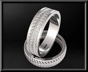 Unique matching his and hers wedding bands classic rings for Men and women matching wedding rings