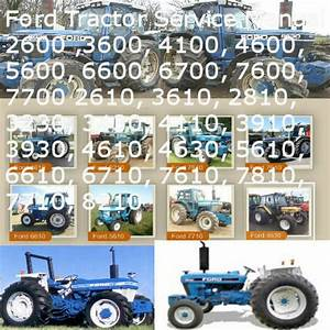 Ford Tractor 10   30 Series Service Manuals 2600 Thru 7700