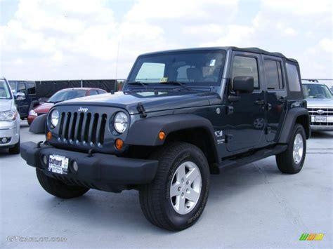 2007 jeep unlimited 2007 steel blue metallic jeep wrangler unlimited x 4x4