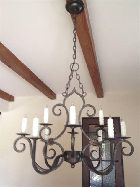 san miguel chandelier rustic kitchen lighting forja