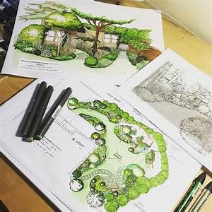 Jardin Dessin Couleur : l 39 atelier au fond du jardin caroline bourigault paysagiste ~ Melissatoandfro.com Idées de Décoration