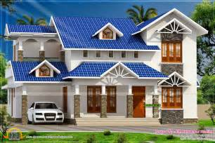 Roof Plans For House Ideas sloped roof kerala home design kerala home design