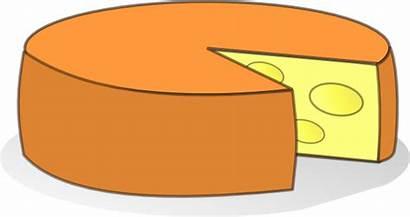 Cheese Clip Clipart Cartoon Vector Wheel Queso