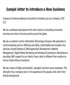 Format Exles by Introduction Letter To Clients Business Letters