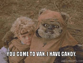 Ewoks Meme - 14 hilarious star wars gifs smosh