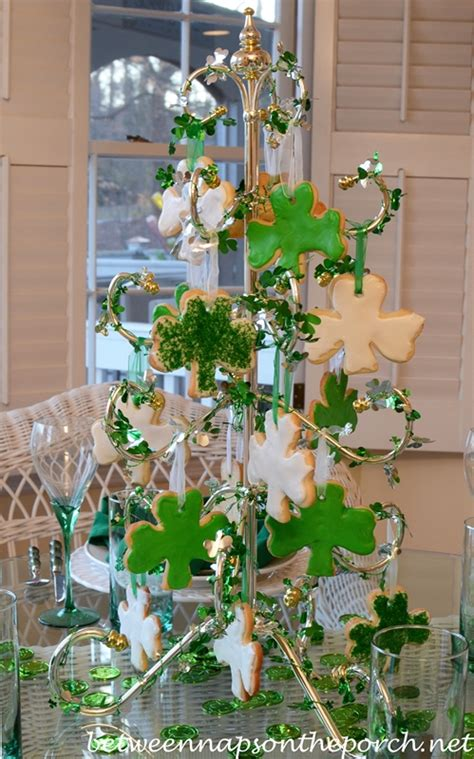 st patrick s day table setting tablescape with shamrock