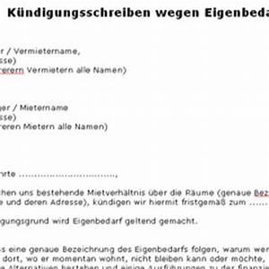 Kündigung Eigenbedarf Frist : k ndigungsschreiben wegen eigenbedarf deutsche ~ Lizthompson.info Haus und Dekorationen