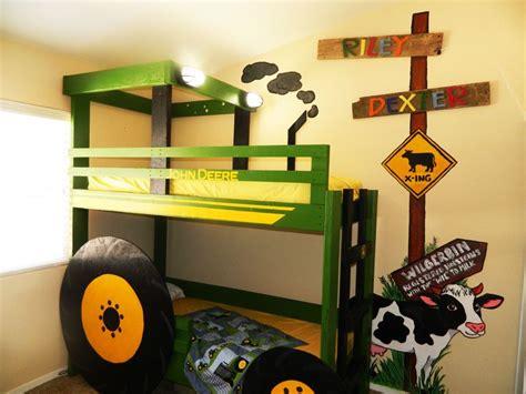 Deere Bedroom Images by Deere Tractor Bunk Bed With Farm Mural