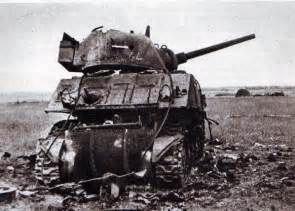 Destroyed Sherman Tanks WWII