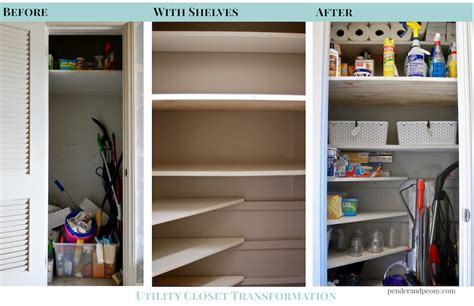 Transformation Organize Your by How To Organize Your Utility Closet Pender Peony A