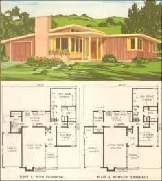 Mid Century Home Plans Ideas by Mid Century Modern House Plan No 5305 1954 National