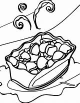 Salad Coloring Potato Chips Chip Bowl Pages Template Getcolorings Printable Revisited sketch template