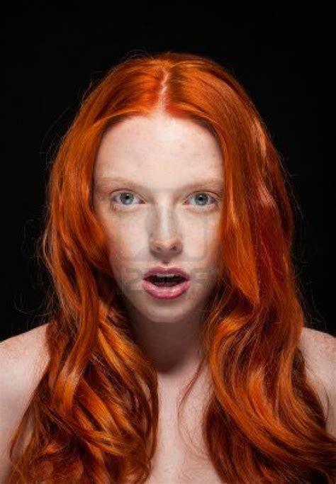 Golden Fashion Girl Portraitwavy Red Hair Wonder