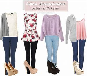 - Ariana Grande inspired outfits with heels....