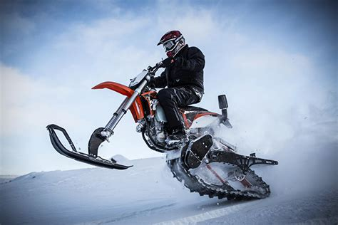 motocross snow bike timbersled mountain horse dirt bike snow kit hiconsumption