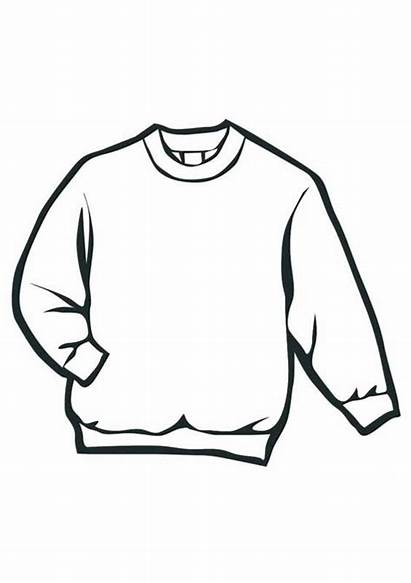 Coloring Sweater Pages Clothes Winter Colouring Clothing