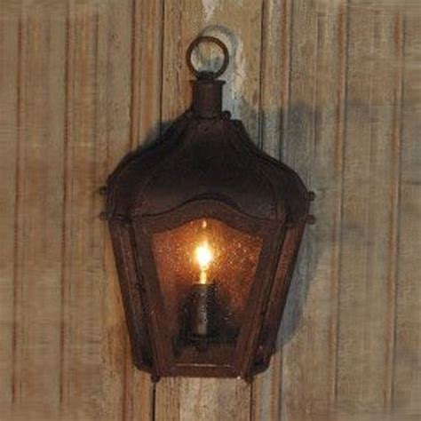 rustic brown iron carriage wall lantern indoor outdoor