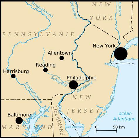 Philadelphia Usa Karte