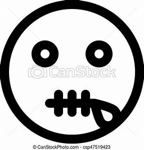 Zipper mouth emoji vector illustration - Search Clipart ...