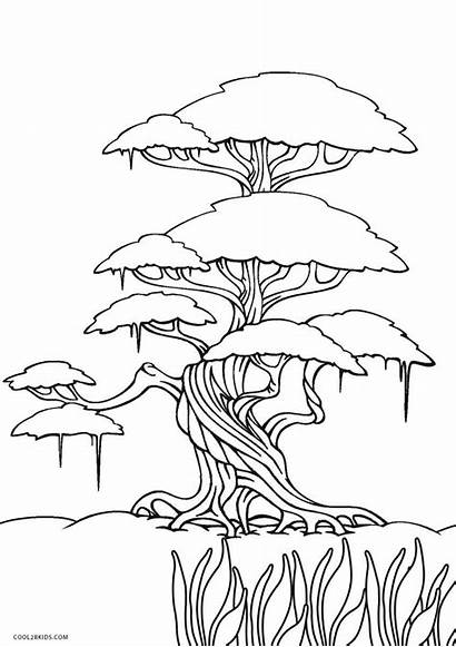 Coloring Printable Pages Tree Sheets Printables Trees