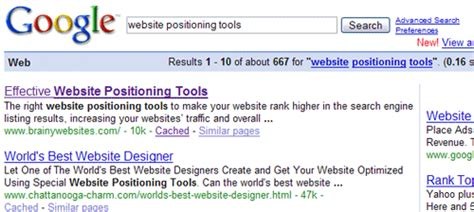 Web Search Engine Positioning - effective website positioning tools to boost your search