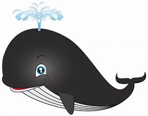 Blue Whale clipart animated - Pencil and in color blue ...