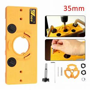 35mm Concealed Hinge Hole Jig Guide   Forstner Drill Bit