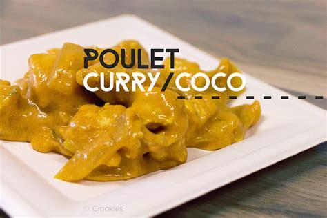 huile de coco pour cuisiner poulet au curry et coco crookies