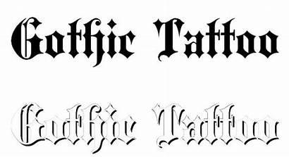 Tattoo Fonts Font Bold Blackletter Lettering Cool