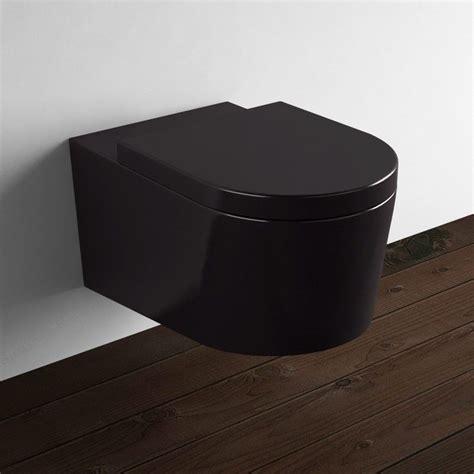 wc suspendu orba noir avec abattant