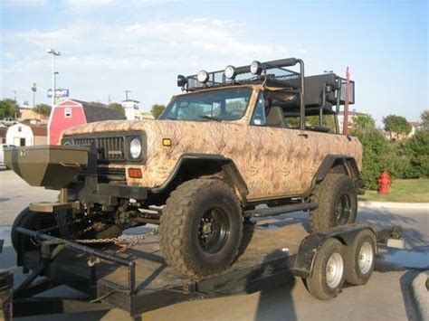 hunting truck for sale sell used hunting truck jeep international scout ii fully