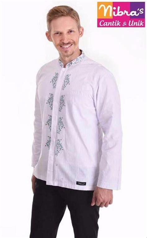 jual exclusive baju koko laki laki murah nibras nk 14 putih original jual koko di lapak yusie