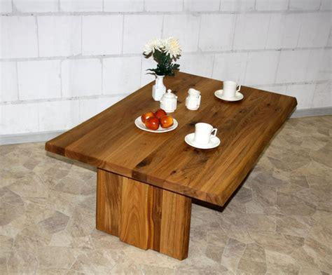 Couchtisch 110x65 Wildeiche Massiv Baumtisch