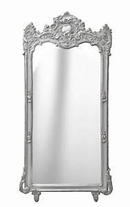 Miroir Baroque Argenté : grand miroir baroque rectangulaire argent ~ Teatrodelosmanantiales.com Idées de Décoration