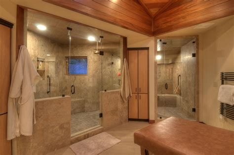 walk in shower remodel ideas modern shower features bold grain wall banana tree mural modern
