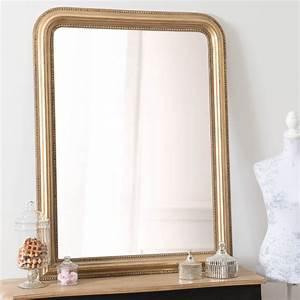 Miroir Cleste Or 120x9 Miroir Maisons Du Monde