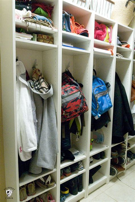 ikea hack diy mudroom lockers  ikea bookcases
