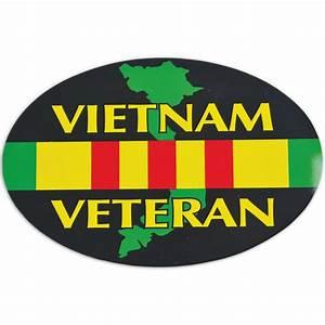 Vietnam Veteran 5 3/4 x 4 Auto Magnet