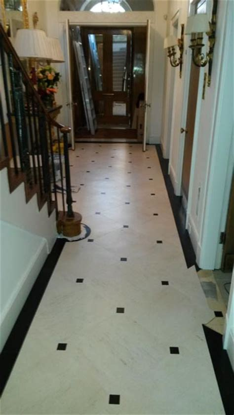 black and white hallways hallway amtico the flooring group
