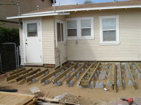 Building A Floating Deck With Concrete Blocks