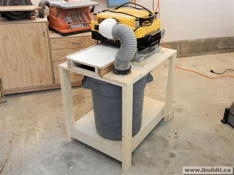 mobile planer stand  dewalt dw diy woodworking