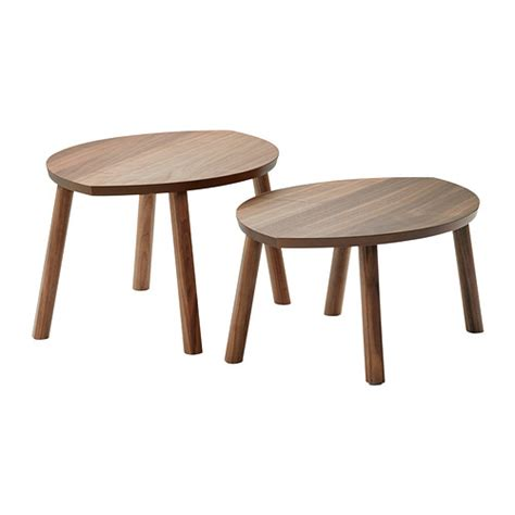 set of two table ls stockholm nesting tables set of 2 ikea