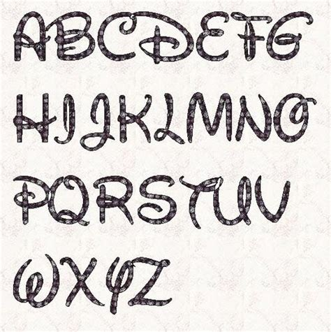 disney letter template applique walt by linleys designs sewing pattern