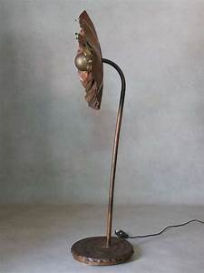 large and unusual brutalist copper floor lamp for sale at With big copper floor lamp