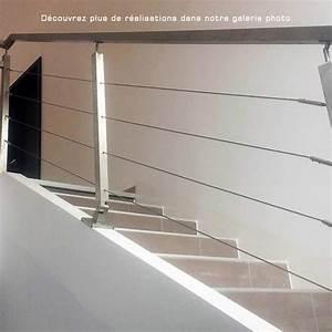Cable Garde Corps : garde corps 5 c bles traversants tube carr ~ Voncanada.com Idées de Décoration